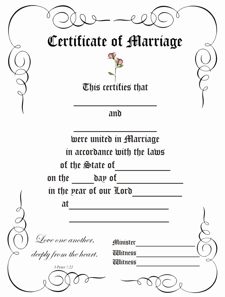 Blank Marriage Certificate Template Fresh 8 Best Of Elegant Certificate Border Templates