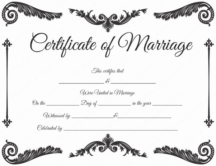 Blank Marriage Certificate Template Inspirational Royal Corner Marriage Certificate format