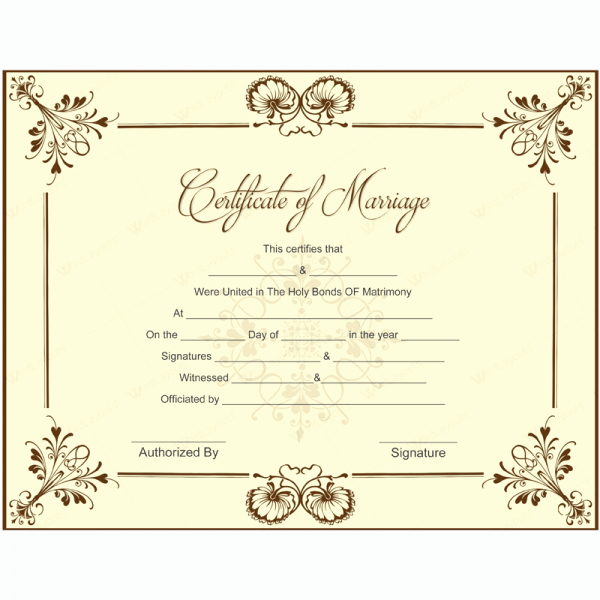 Blank Marriage Certificate Template Lovely Blank Marriage Certificate Template for Microsoft Word