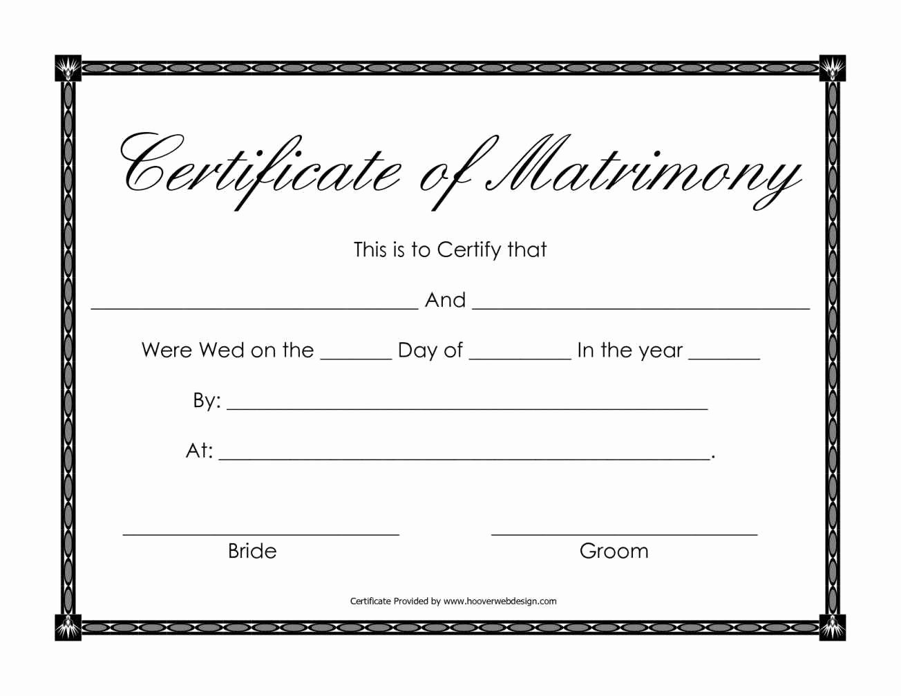 Blank Marriage Certificate Template Lovely Certificate Templates Sample Marriage Certificates