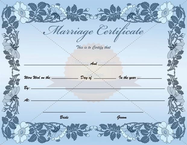 Blank Marriage Certificate Template Lovely Fake Blank Marriage Certificate Template