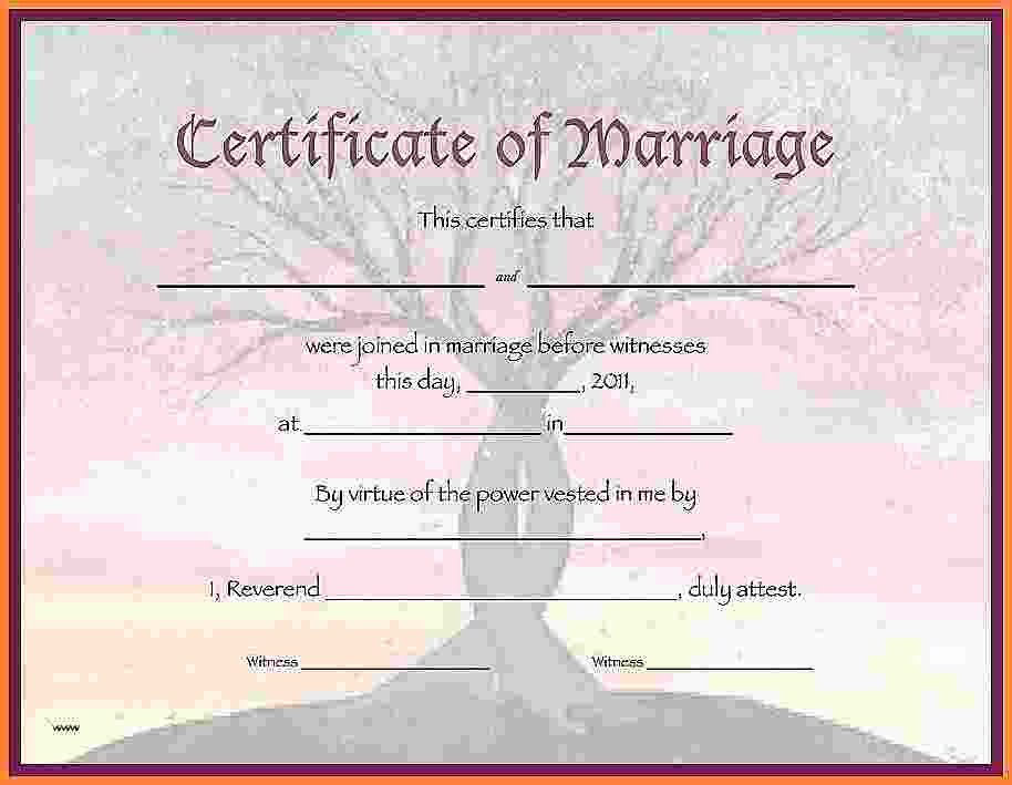 Blank Marriage Certificate Template Luxury 10 Blank Marriage Certificate