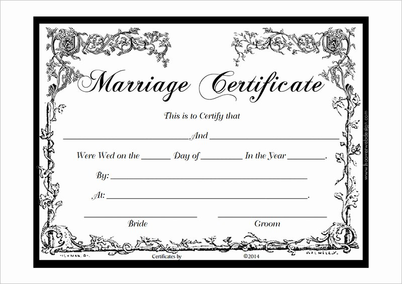 Blank Marriage Certificate Template Luxury formatted Doc Marketing Certificates