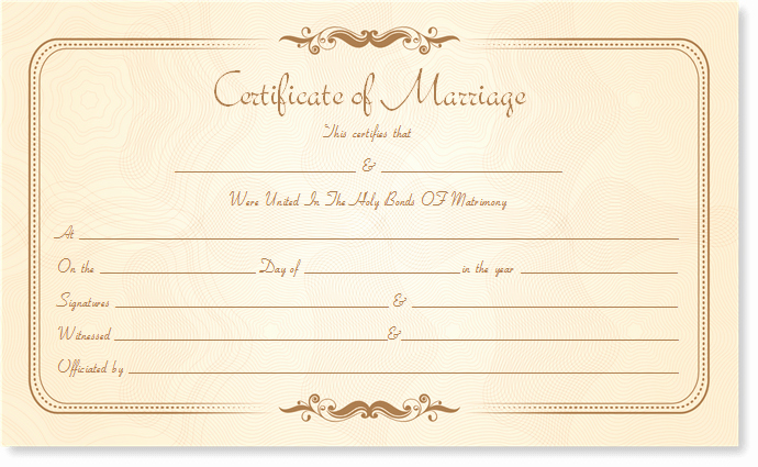 Blank Marriage Certificate Template Luxury Marriage Certificate Template Write Your Own Certificate