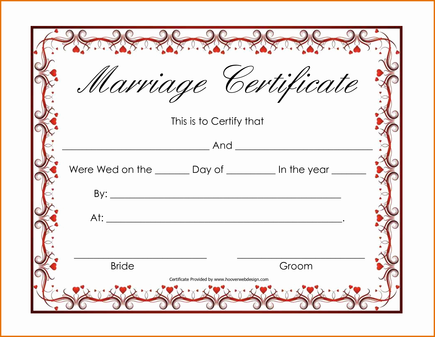 Blank Marriage Certificate Template New Blank Marriage Certificate Templatereference Letters Words