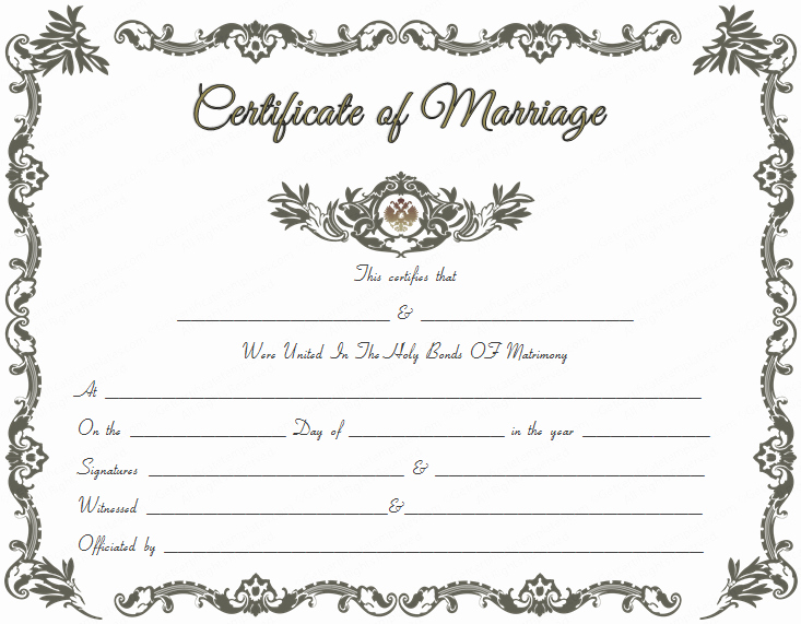 Blank Marriage Certificate Template New Royal Marriage Certificate Template Get Certificate