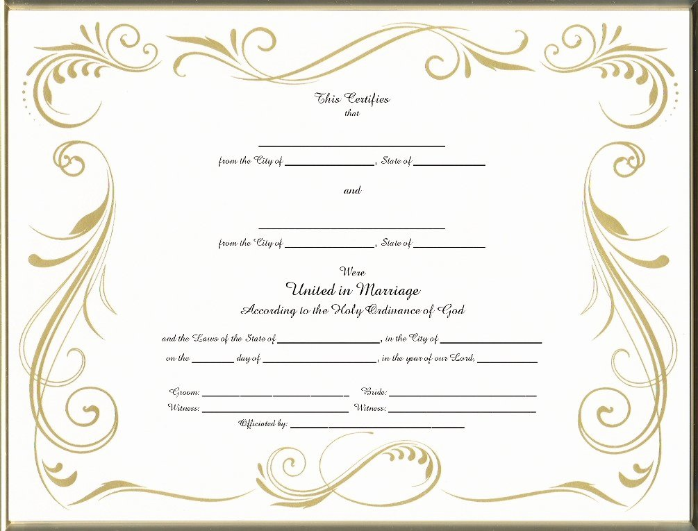 Blank Marriage Certificate Template Unique Blank Official Marriage