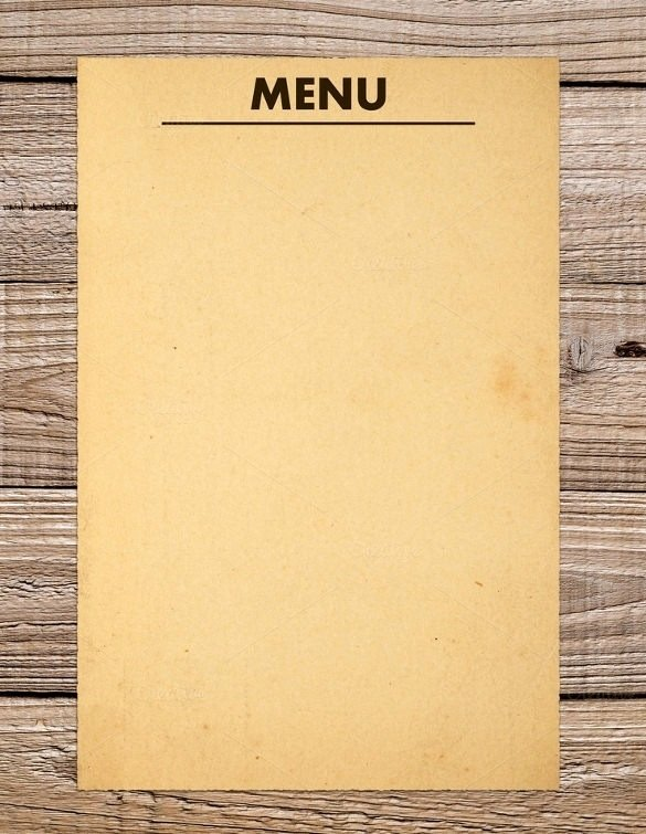 Blank Menu Template Free Awesome Blank Menu Template Free Download
