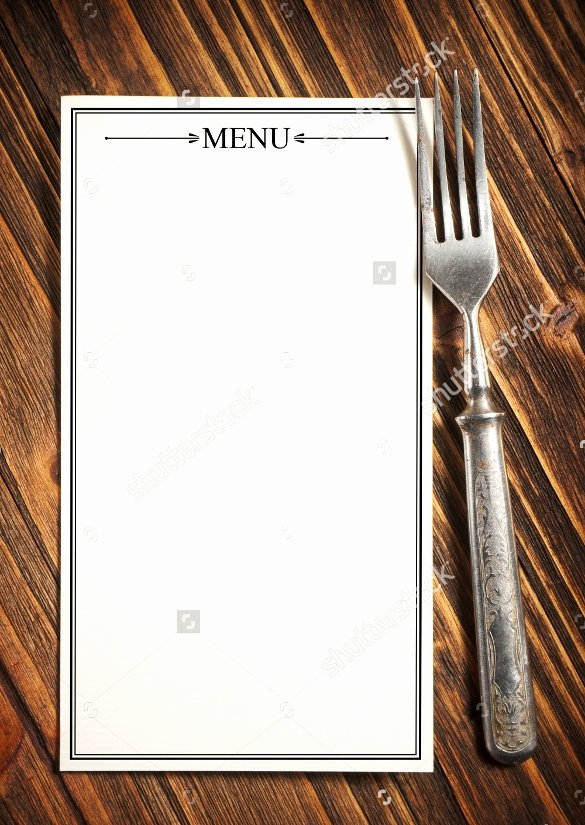 Blank Menu Template Free Beautiful 21 Blank Menus