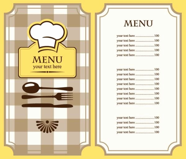 Blank Menu Template Free Beautiful Free Restaurant Menu Template