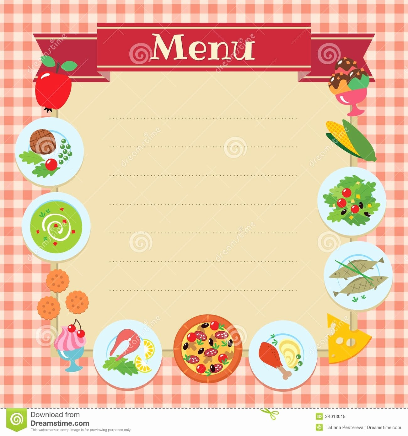 Blank Menu Template Free Best Of Blank Menu Template for Kids