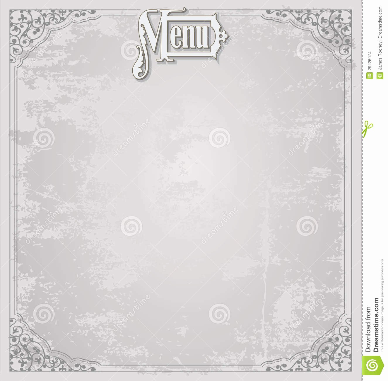 Blank Menu Template Free Luxury Menu Design Template Stock Illustration Illustration Of