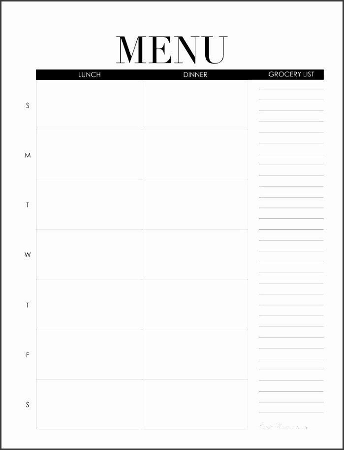 Blank Menu Template Free New 8 Free Blank Menu Templates Sampletemplatess