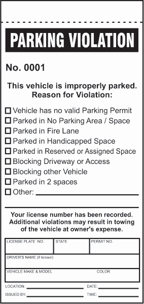 Blank Parking Ticket Template Awesome 28 Of Parking Violation form Template