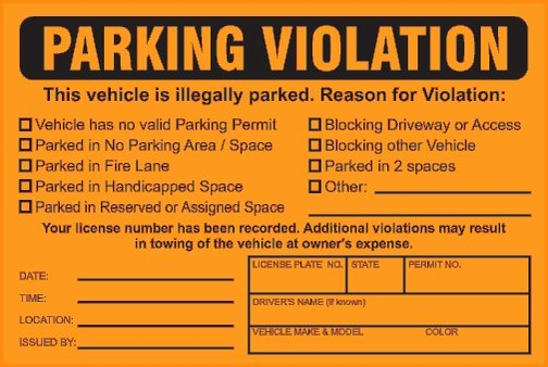 Blank Parking Ticket Template Beautiful Parking Tickets Template – Free Download