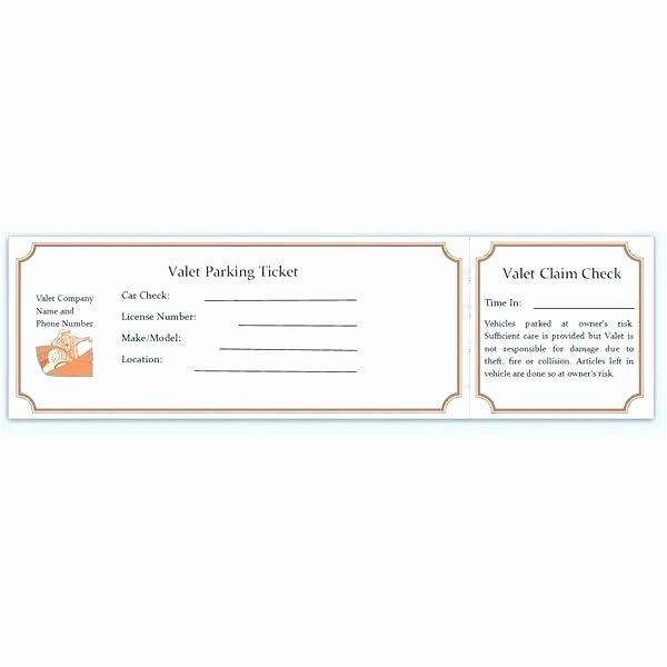 Blank Parking Ticket Template Best Of Blank Tickets Template Raffle Ticket Template Excel
