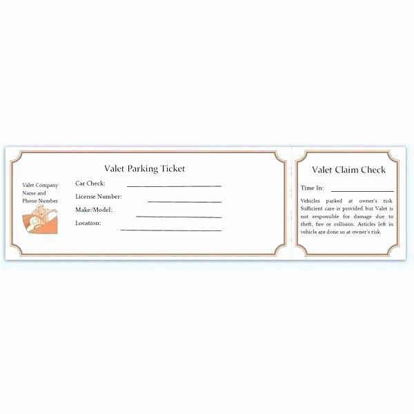 Blank Parking Ticket Template Best Of Blank Tickets Template Raffle Ticket Template Excel