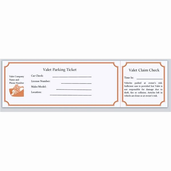 Blank Parking Ticket Template Best Of Perfect Blank Ticket Template for Valet Parking with