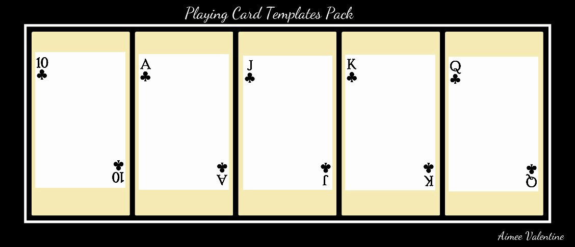 Blank Playing Card Template Fresh Best S Of Playing Card Templates for Word Playing