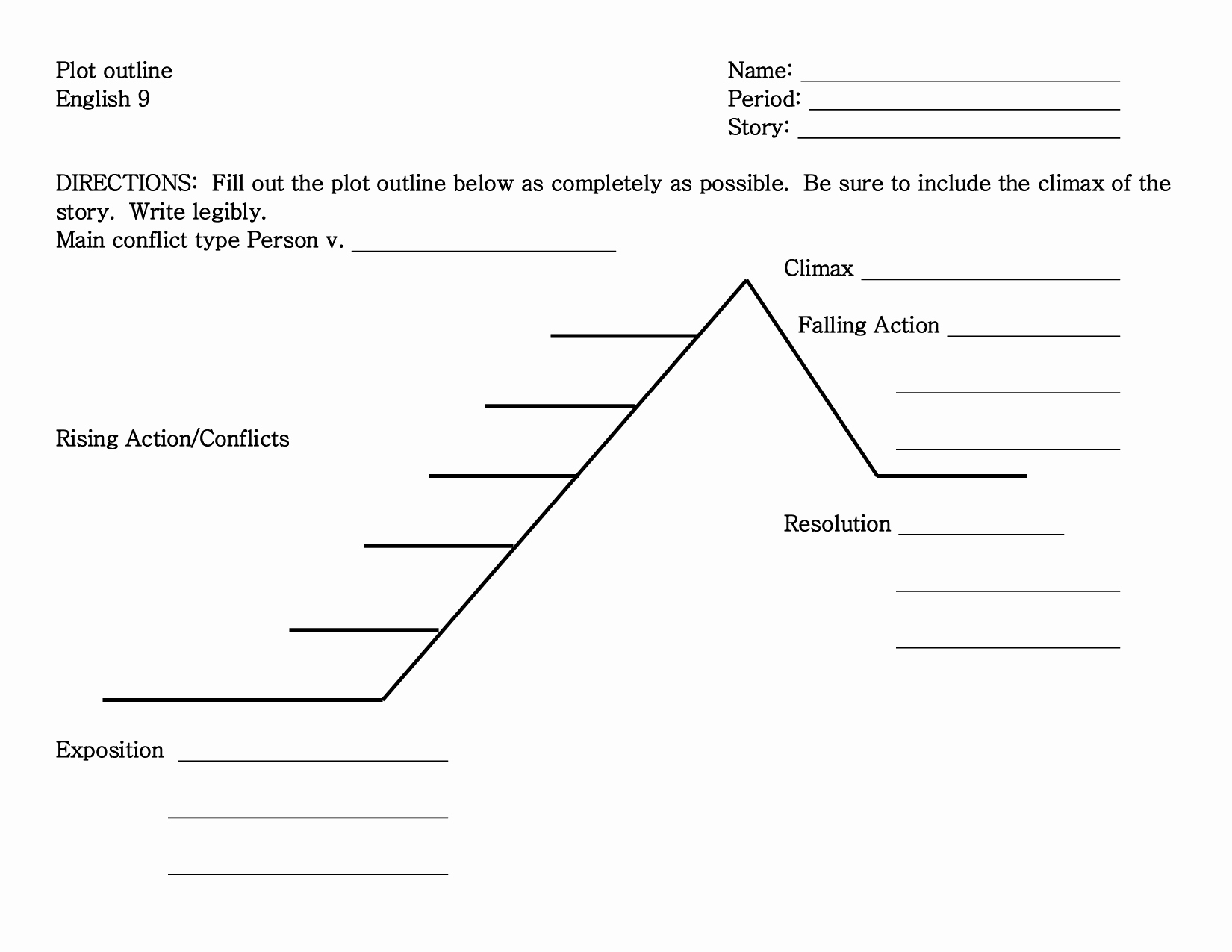 Blank Plot Diagram Template Awesome 29 Of Story Plot Template Blank