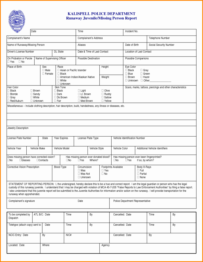 Blank Police Report Template Fresh Mock Police Report Blank Writing Sheet Features forms