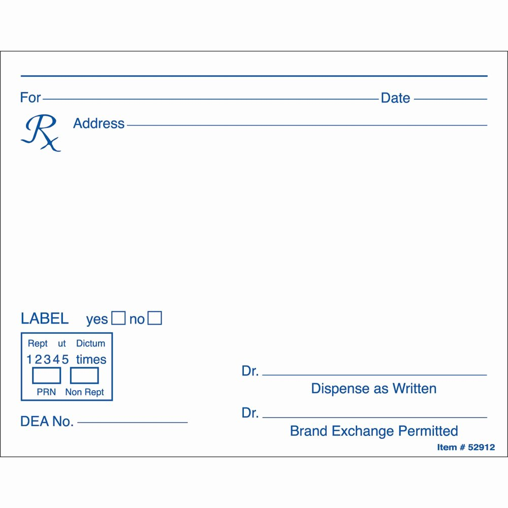 Blank Prescription Pad Template Awesome Prescription Label Template Microsoft Word Templates Data