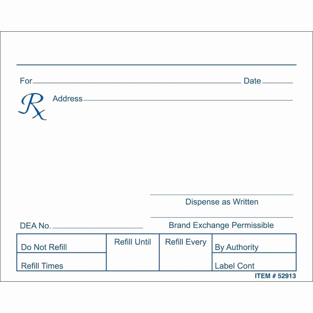 Blank Prescription Pad Template Fresh Blank Prescription form Template – Versatolelive