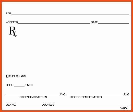 Blank Prescription Pad Template Inspirational Blank Prescription form Template – Versatolelive
