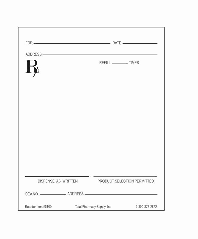 Blank Prescription Pad Template New Prescription Notepad Template the Slur