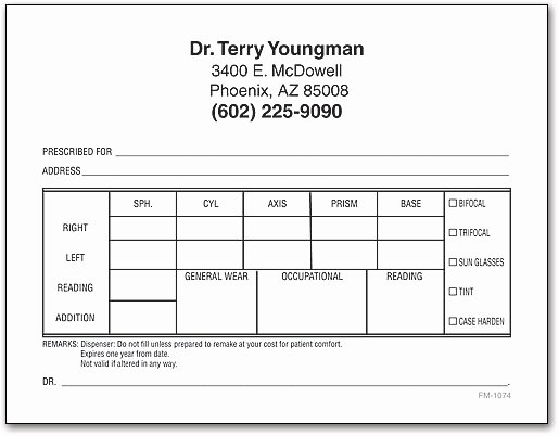 Blank Prescription Pad Template New Rx Prescription Pads