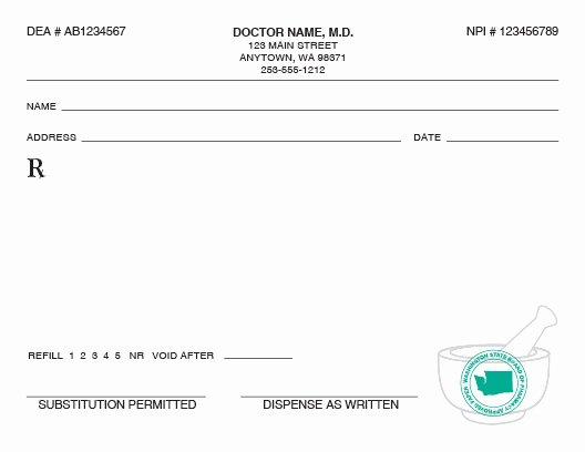 Blank Prescription Pad Template Unique Puyallup S Print Shop