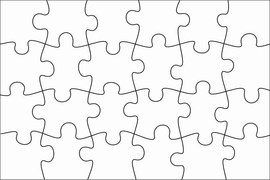 Blank Puzzle Pieces Template Best Of Free Puzzle Pieces Template Download Free Clip Art Free