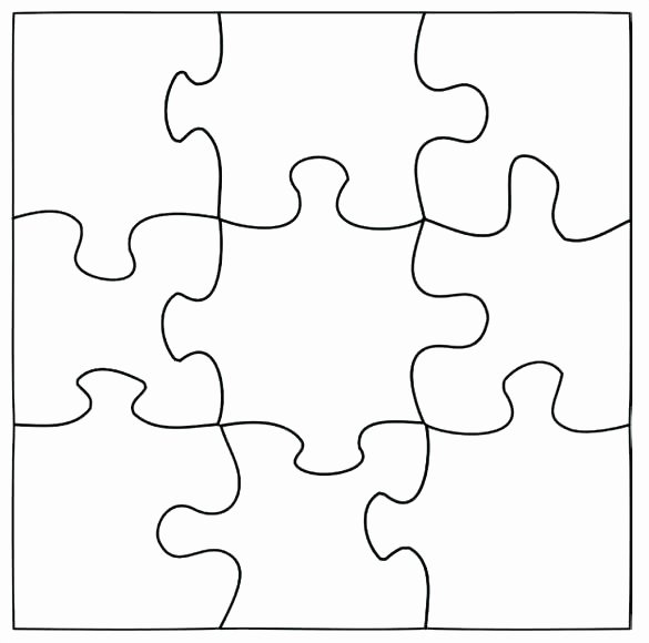 Blank Puzzle Pieces Template Best Of Printable Puzzle Piece 6 Jigsaw Template Blank – Tangledbeard