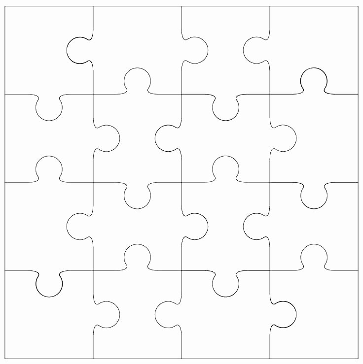 Blank Puzzle Pieces Template Best Of Printable Puzzle Piece Jigsaw Blank Template with