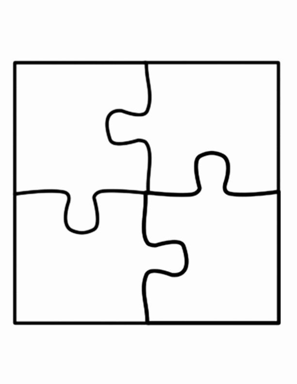 Blank Puzzle Pieces Template Fresh Puzzle Template Four Piece Jigsaw Puzzle Template