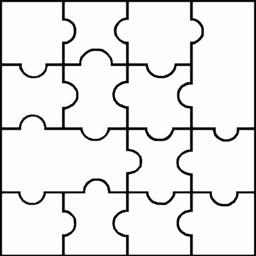 Blank Puzzle Pieces Template Lovely Blank Jigsaw Templates Clipart Best