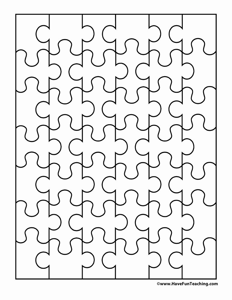 Blank Puzzle Pieces Template Lovely Paper Cut Outs