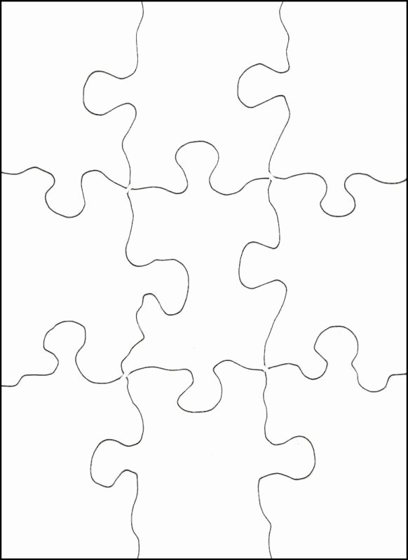 Blank Puzzle Pieces Template Luxury 8 Best Of Printable Blank Jigsaw Puzzles