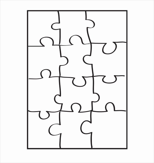 Blank Puzzle Pieces Template Luxury Puzzle Piece Template 19 Free Psd Png Pdf formats