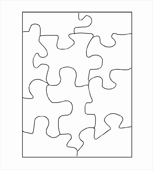 Blank Puzzle Pieces Template Luxury Puzzle Template Blank Puzzle Template