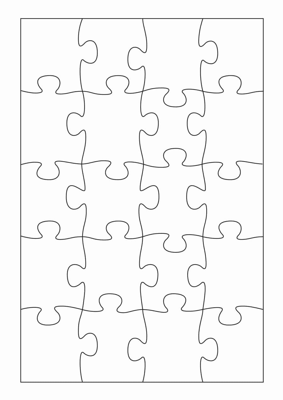Blank Puzzle Pieces Template New 19 Printable Puzzle Piece Templates Template Lab