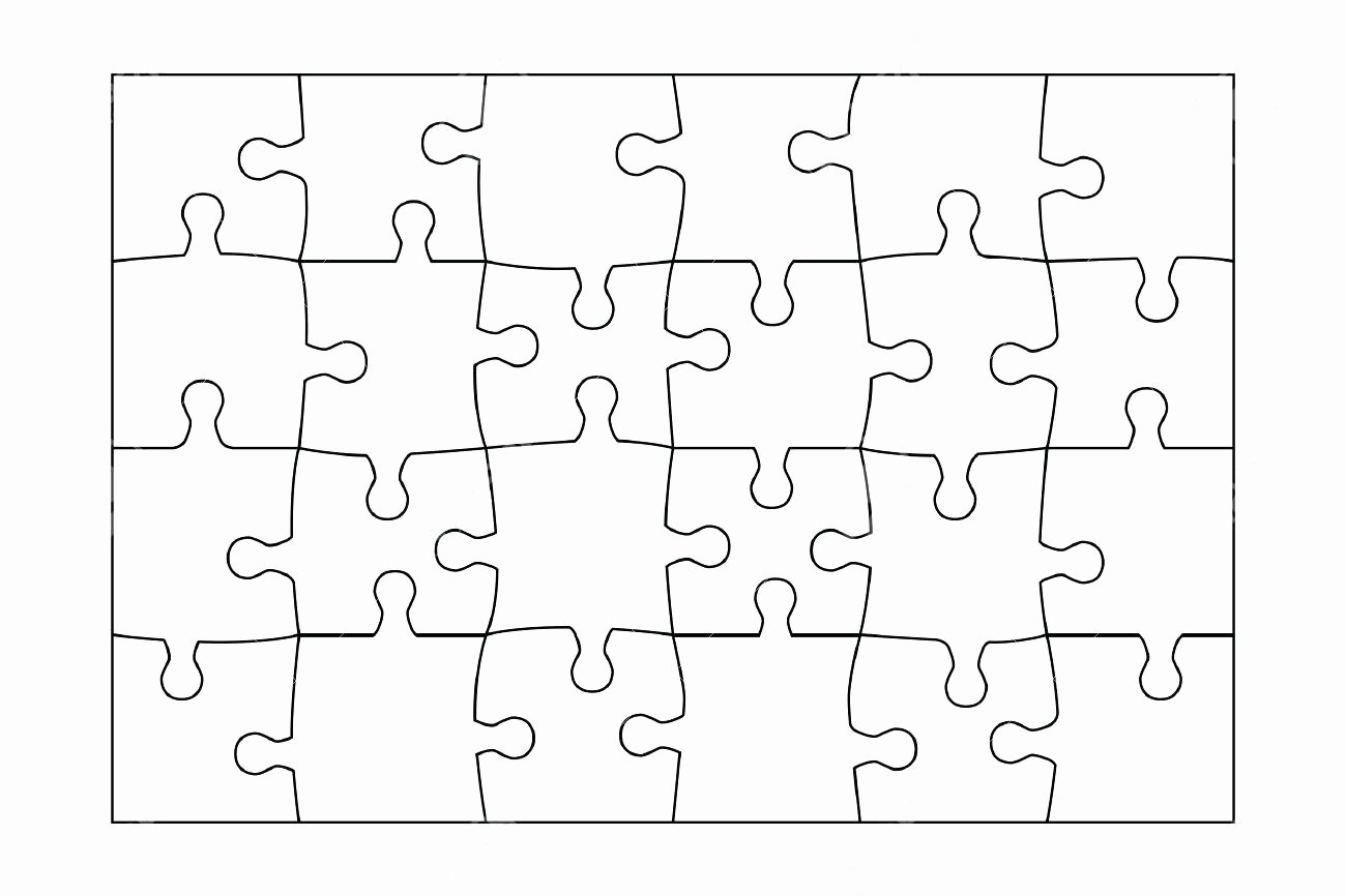 Blank Puzzle Pieces Template New 98 20 Piece Blank Jigsaw Puzzle Template by Paul Kearney