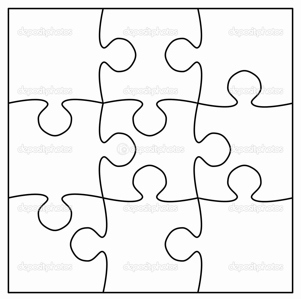 Blank Puzzle Pieces Template Unique Best S Of 9 Piece Jigsaw Puzzle Blank Blank Puzzle