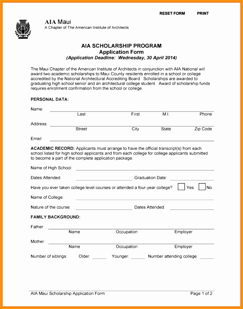 Blank Scholarship Application Template Best Of 6 Blank Resume Template for High School Students Free