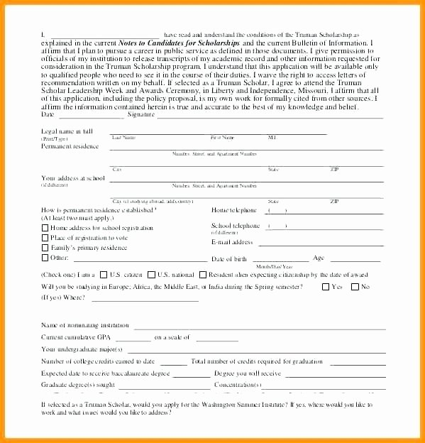 Blank Scholarship Application Template Fresh Blank Application Template Free Employment Blank Job