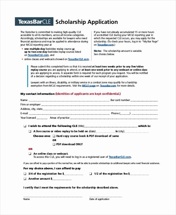 Blank Scholarship Application Template Lovely 41 Application Templates In Pdf