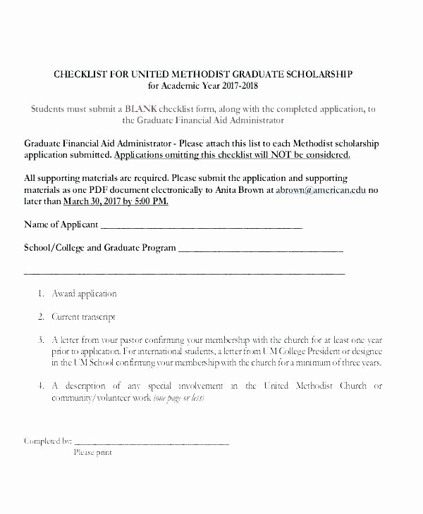 Blank Scholarship Application Template Unique Scholarship Template Free Scholarship Email Template