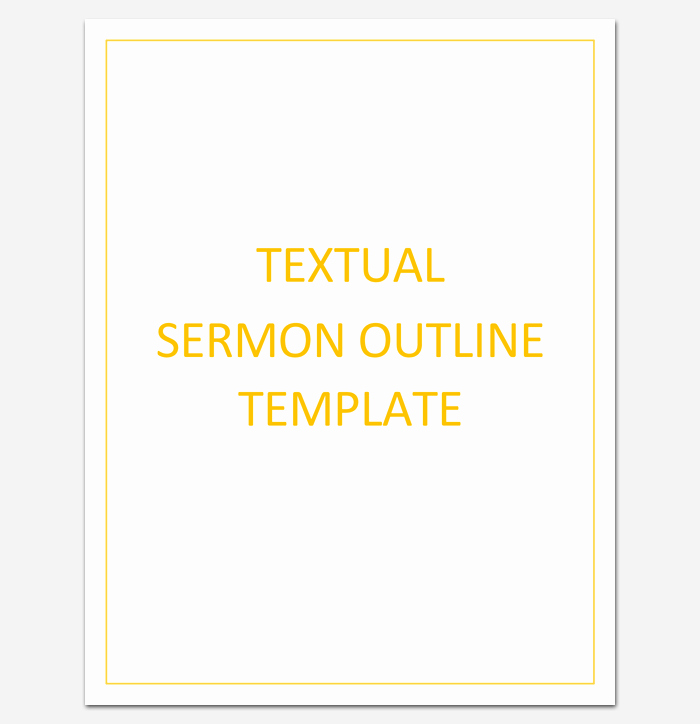 Blank Sermon Outline Template New Sermon Outline Template 12 for Word and Pdf format