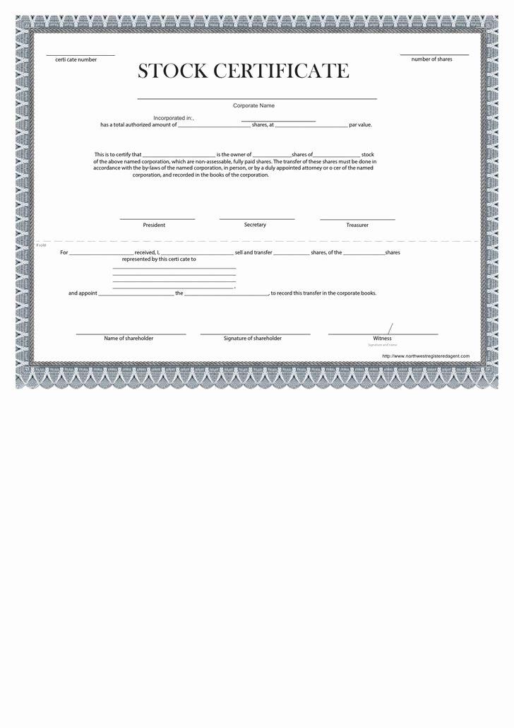 Blank Stock Certificate Template Beautiful 21 Stock Certificate Template Free Download