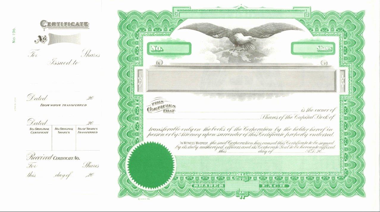 Blank Stock Certificate Template Luxury Blank Stock Certificate Template Mughals